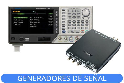 Generadores de señales arbitrarias / Funciones Hantek